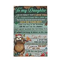 私の娘ナマケモノへ To My Daughter Sloth 1000個の 木製ピース ジグソーパズル ワンピース (50x75cm) ジグソーピース 立体パズル 木製ジグソーパズル 大人 ピースジグソーパズル