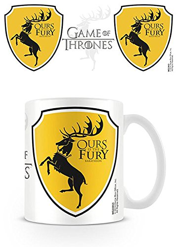 empireposter Game of Thrones - Baratheon Wappen - Keramik Tasse - Größe Ø8,5 H9,5cm