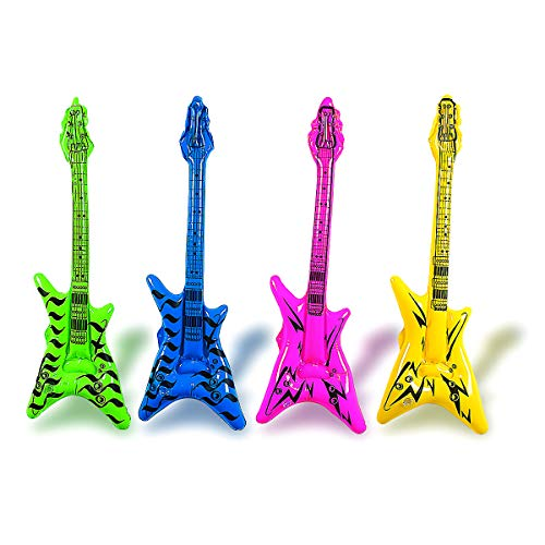 Fun Express 42 Inflatable V Guitar (3-Pack; Colors Vary)
