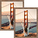 Golden State Art, Simple Classic Poster Picture Frame - Wall Display, Set of 2, 18x24, Brown