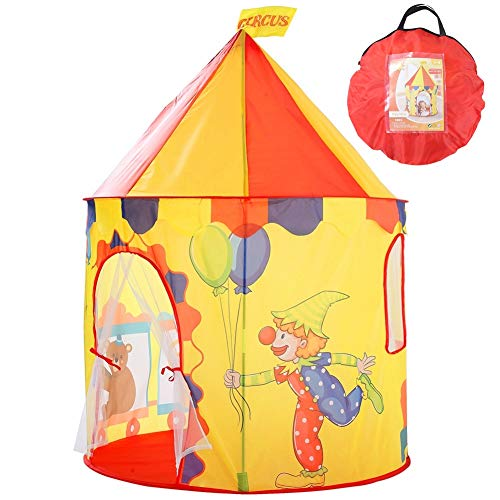 Benebomo Kids play tents yurt children's tents circus,Childrens teepee foldable,Play tent house,Mesh baby tents house,Infant play house garden tent,Best gift for boys and girls