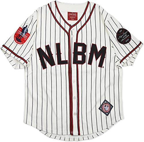 Cultural Exchange Big Boy Negro League Centennial Commemorative Heritage Mens Baseball Jersey [Ivory White - XL]