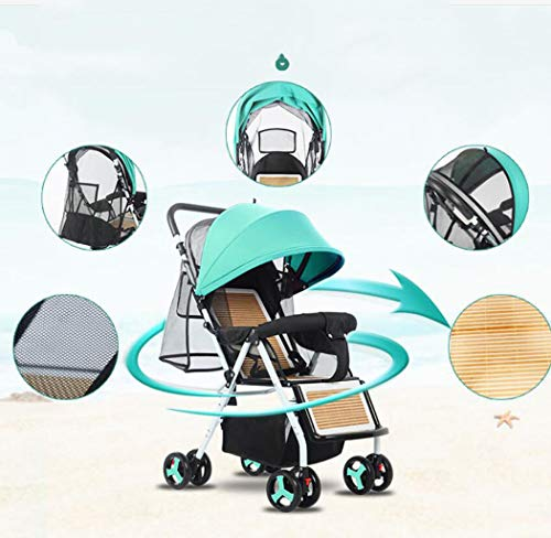 RAPLANC Baby stroller for 2020, Foldable stroller, Travel system, with extra storage space, four-wheel shock absorption, high view and stylish stroller,Blue RAPLANC Lightweight – A lightweight stroller makes any outing a little easier! The Convenience Stroller has a durable Aluminum frame that weighs just 9 pounds and has a large seat area, plus anti-shock front wheels and lockable rear wheels. 3-Position Recline – Keep your little one comfortable and safe at all times with the 3 position recline and 5 point safety harness. Compact Foldable Stroller – The easy compact fold with carry strap and auto lock makes it simple to store this lightweight umbrella stroller and bring it with you to go! Plus, the adjustable and removable canopy with flip out sun visor is perfect for sunny days. 7