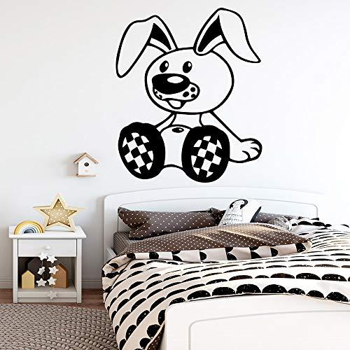 Modeganqingg Adesivo murale Coniglio Decorazione Vinile Impermeabile Famiglia Accessori Camera dei Bambini Decalcomania Decorativa Rimovibile 45cmX52cm
