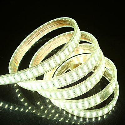 Tiras de luces LED 220V Tres 276Leds / m SMD 2835 IP67 Diodo de cinta de amplificador blanco cálido impermeable