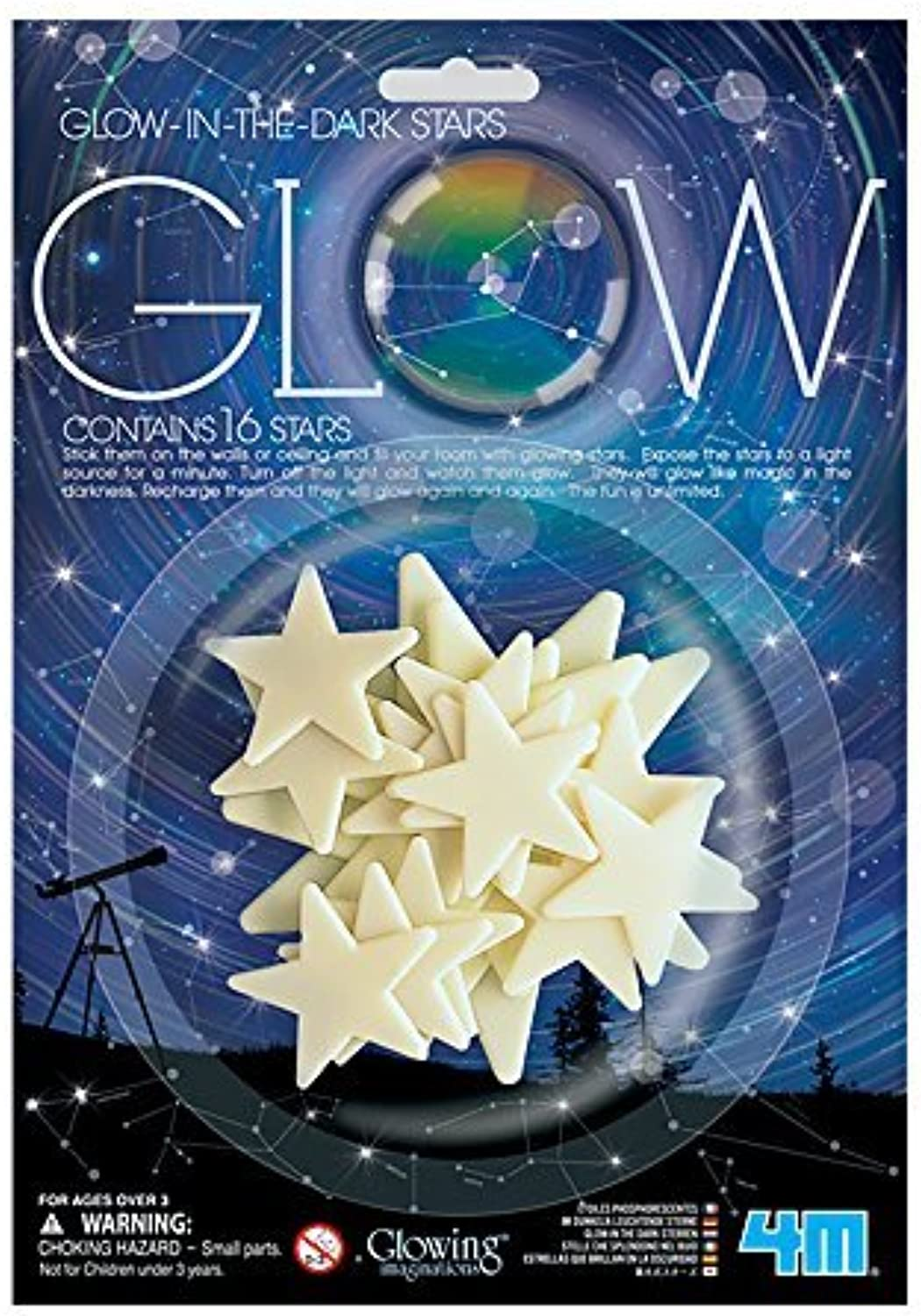Glow In The Dark Stars Glowing Imaginations by 4M