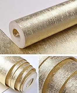 YLCJ Wall Wallpaper Metal Silver Gold and Copper Luxury Modern Texture Environmental Wallpaper roll Glitter Gold foil Grass Cloth Vinyl PVC Wallpaper Home Decoration E