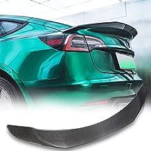 TGFOF Real Carbon Fiber Spoiler for Tesla Model 3 Spoiler Sedan 2016-2021 Rear Carbon Fiber Car Trunk High-Kick Tail Spoiler Wing Lip Car Accessories