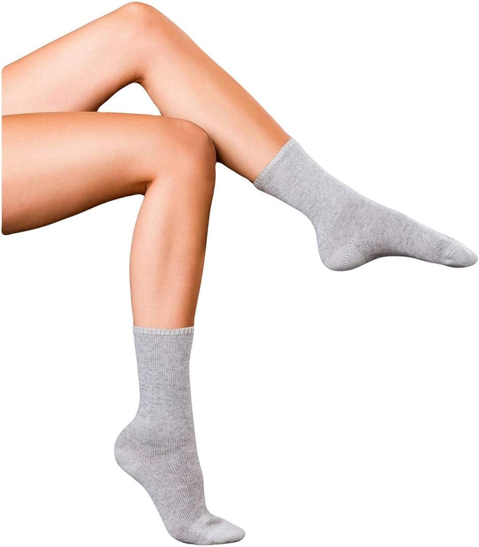 Falke Womens Finest No1 Cashmere Relax Socks  Light Grey Melange