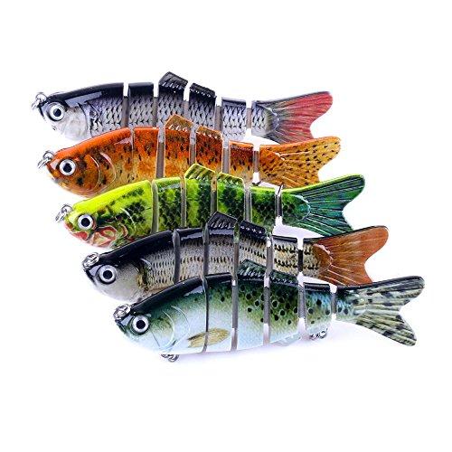 PEKLOKIW Wobbler - Juego de 6 señuelos de pesca con 2 anzuelos triples para pesca de lucio, perca, lucioperca y lucioperca