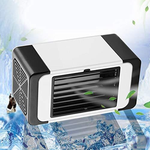 JJZXLQ Mini Ventilador De Aire Acondicionado USB Ventilador De Refrigeración del Ventilador Estudiante Ministerio del Interior Dormitorio Silencioso Pequeño Ventilador