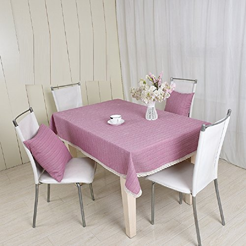 LD&P Katoen en linnen paarse kant tafelkleed salontafel, eettafel, vierkante tafel, ronde tafel buiten picknick tafelkleden