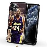 XMYP Funda para iPhone 7/8 Kobe para jugador de baloncesto 24# fundas de teléfono para niñas, hombres y niños, a prueba de golpes, antideslizante, diseño de gel de sílice, personalizable L- 7/8 Plus