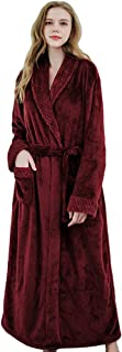 Unisex Waffle Dressing Gown Lightweight Bath Robe for All Seasons Spa Hotel Pool Sleepwear with Pockets and Belt