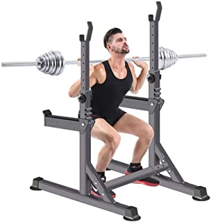 Barbell Rack Stand Weight Lifting Rack Adjustable Squat Rack Bench Press Dipping Station