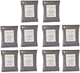 OLIVIA & AIDEN 10 Pack - Large 200g Bags - Activated Bamboo Charcoal All Natural Air Freshener | Eco Friendly Odor Eliminator and Moisture Absorber | Car Deodorizer - Closet and Room Air Purifier