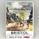TNND Bristol Railway Poster Metallschild Clifton Suspension