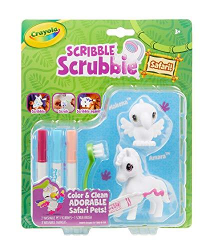 Crayola Scribble Scrubbie Safari Animals, Zebra & Bird, 2Count, Creative Toy, Gift for Kids, Age 3, 4, 5, 6
