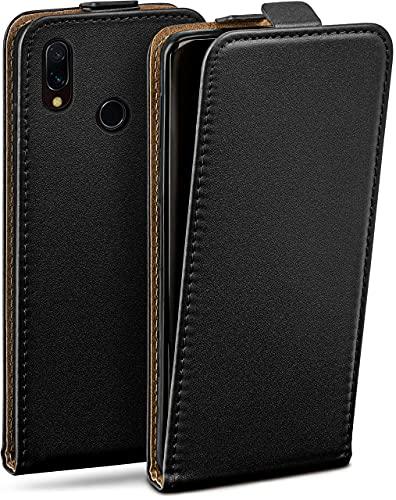 moex Flip Hülle für Xiaomi Mi Mix 2S Hülle klappbar, 360 Grad R&um Komplett-Schutz, Klapphülle aus Vegan Leder, Handytasche mit vertikaler Klappe, magnetisch - Schwarz