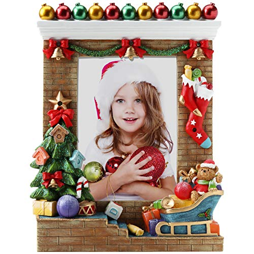 FINE PHOTO GIFTS Light Up 5x7 Christmas Resin Picture Frame