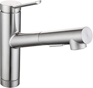 Pull Out Kitchen Faucets,Hot And Cold Water Faucet,2 Spraying Modes 360° Rotating Single Handle Faucet Stainless Steel