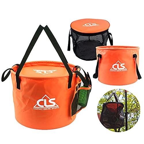 N/E. Cubo de agua plegable al aire libre, camping, portátil, plegable, contenedor de almacenamiento para viajes, senderismo, pesca, navegación, jardinería, lavado de coches
