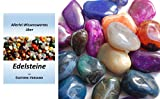 Edelsteine, polierte Trommelsteine, Achate, bunte Mischung XXL, Größe 3,5 bis 4,5 cm, 500 g-Beutel, incl. 36seitige Broschüre