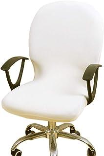 Harupink Cubiertas de la Silla Giratoria de la Computadora,Funda Asiento para Ordenador ,Funda para Sillas de Giratorias/Silla para Ordenador (Blanco)