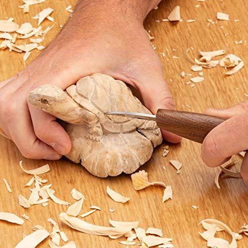 Elemental Tools Whittling Knife - Wood Carving Knife for Detail Knife Woodworking, Chip Carving Knife Woodworking, Or Add to Any Whittling Kit