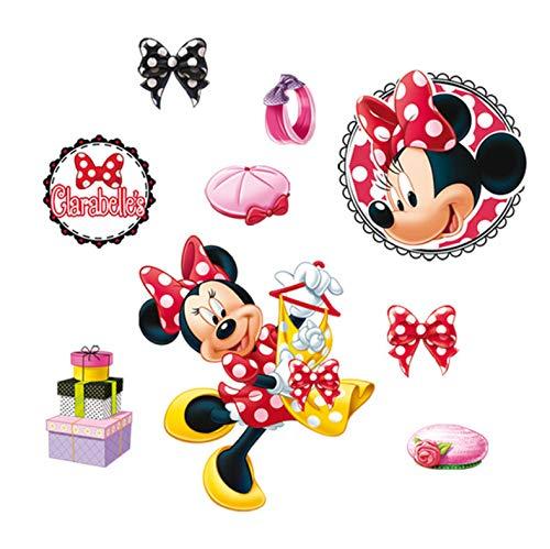Disney Minnie Habiller Moi-Même Stickers Muraux Pour Chambres D'Enfants Décoration Accessoires De Bande Dessinée Stickers Muraux Pvc Peinture Murale Bricolage Affiches 40X60Cm