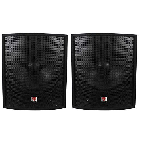 (2) New Rockville SBG1188 18' 2000 Watt Passive Pro DJ Subwoofers Subs