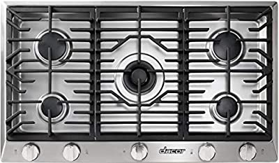 Dacor HCT365GSNG Heritage Series 36 Inch Natural Gas Cooktop with 5 Sealed Burners, in Stainless Steel