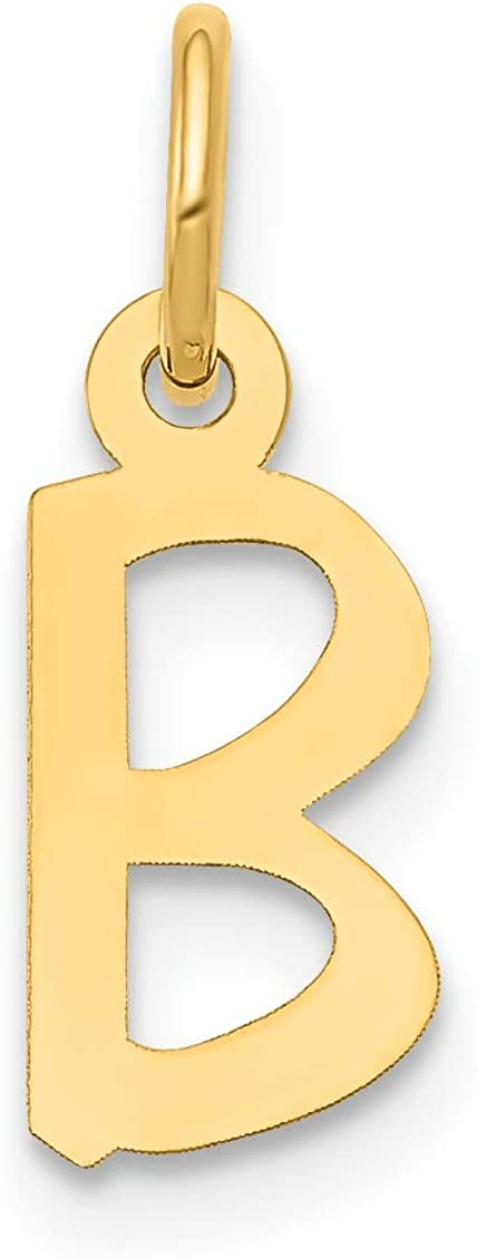 14k Yellow Gold Solid Polished Superior Slanted online shopping Init Block B Style Letter