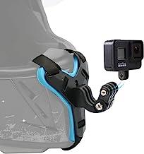 SUREWO Motorcycle Helmet Chin Strap Mount for GoPro Hero 9/8/7/(2018)/6/5 Black,Session 4,Hero 3,DJI Osmo Action,Insta360 ...