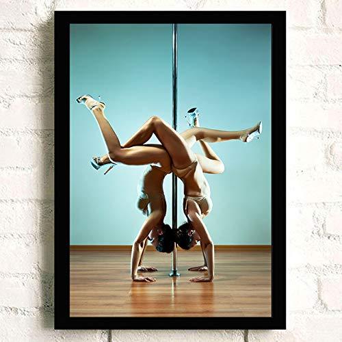 tzxdbh wanddoek schilderij over Lady dansen op stalen buis vintage poster voor -in een groep 10X15 CM No frame Paars