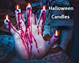 Bleeding Hand Candle - Halloween Decor - Halloween Candles - Halloween Decorations - Fall Candle - Horror Decor - Goth