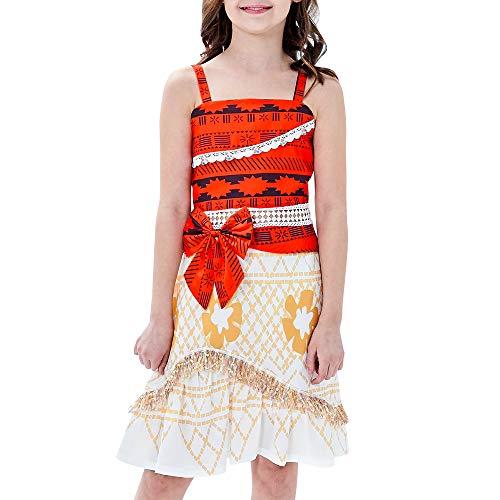 Sunny Fashion Vestido para niña Disfraz Dibujos Animados Cosplay Víspera de Todos los Santos Princesa 10 años
