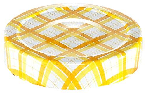 Tescoma 895120 Della Casa Coperchi per Vasetti da 125 e 200 ml, Metallo, Multicolore, 6 Pezzi