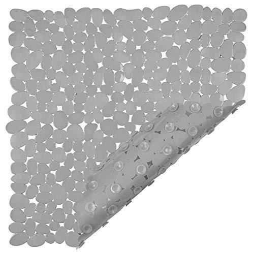 Circul Duscheinlage 53 x 53 cm grau Kieselsteinoptik, Neue Saugnoppen bessere Antirutschfunktion