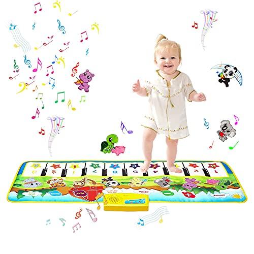 m zimoon Alfombrilla de Piano para Niños, Alfombrilla Musical Alfombrillas de Baile Alfombrillas Táctiles Teclado Estera de Alfombra para Bebé Niño
