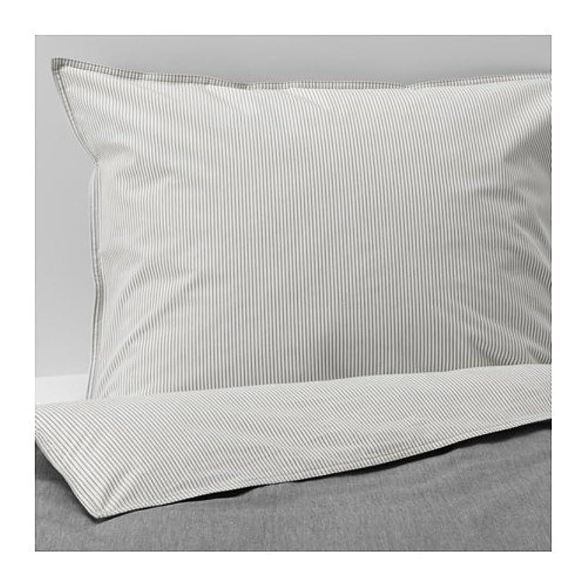 一方、パターン低下BLAVINDA 掛け布団カバー&枕カバー, グレー 603.280.85