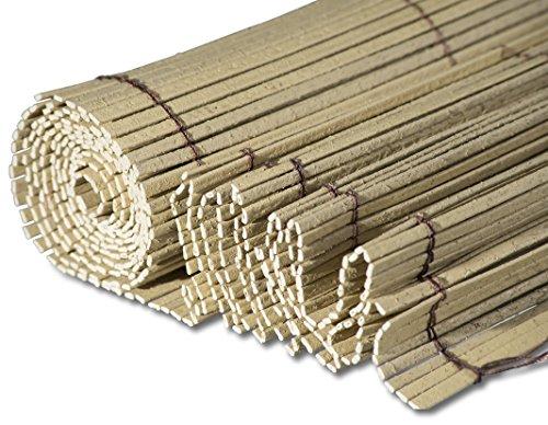 Windhager Sichtschutzmatte Bambu Solido, Balkonblende in Bambusptik, Sichtschutz für Garten, 100 x 300 cm, natur, 06697