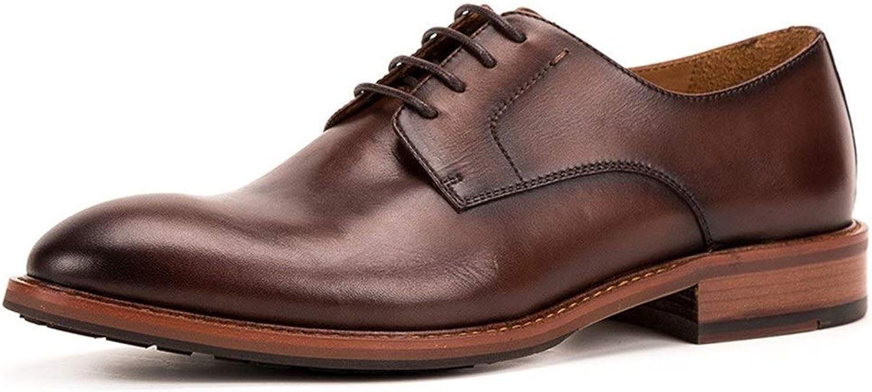 Men's Wedding shoes Handmade shoes Men Business shoes Men's shoes Leather Business Dress shoes Leather (color   Brown, Size   6.5UK)