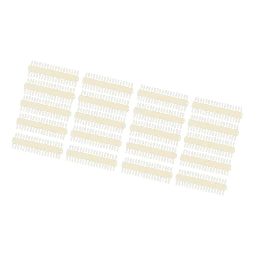 リラックスした楽しむ崖10個 マニキュアカラーカード ネイルアート 白い 両面 カラーカード 練習ディスプレイ