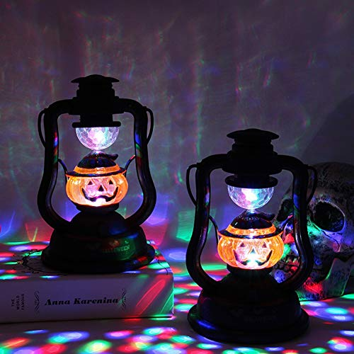 Nwlgl Flameless LED Candle Halloween Lantern Decoration for Indoor Outdoor Use