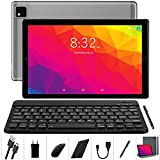 YOTOPT Tablet 10 Zoll Android 10.0 mit Tastatur und Maus, Octa-Core, 64 GB ROM, 4 GB RAM, 4G Dual-SIM, WLAN/GPS/Bluetooth/Typ C, Farbe: (Grau)