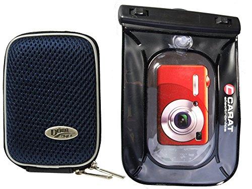 Foto Kamera Tasche Hardbox blau Set mit Unterwasserbeutel