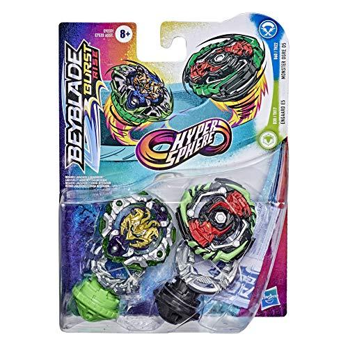 Hasbro NO Beyblade Burst Rise Hypersphere Doppelpack Monster Ogre O5 und Engaard E5 – 2 rechtsdrehende Kreisel, ab 8 Jahren