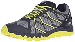 professional SCARPA Proton Trail Running Shoes Runner Sneakers, Gray / Lime, 40.5 EU / 7.6666666666666667 M US