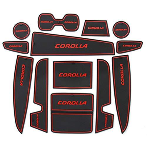 QOMFNG para Toyota Corolla E210 210 2019 2020 2021, Alfombrilla Antideslizante para Coche, Alfombrilla Antideslizante para Puerta, Accesorios para el Estilo del Coche